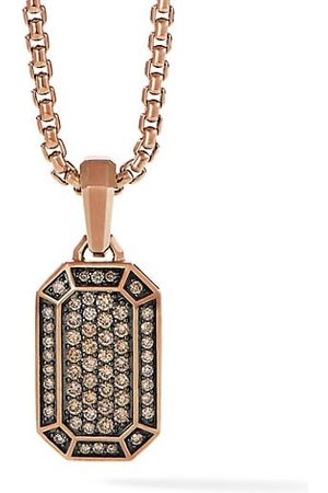 David Yurman Pavé 18 Rose & Cognac Diamond Amulet