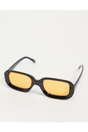 ASOS Men Sunglasses - Square sunglasses with amber lens