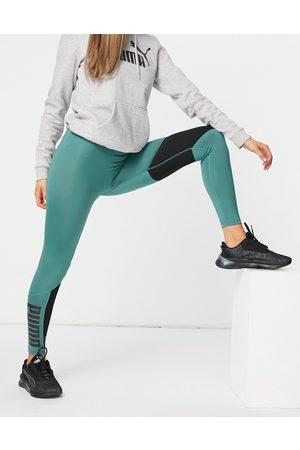 PUMA Train high waist 7/8 leggings with logo in teal