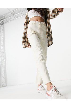 VILA Women Slim - Straight leg jean in ecru