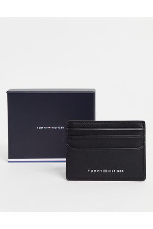 Tommy Hilfiger Metro leather cardholder with logo in