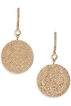 ASTLEY CLARKE Icon Pavé Light Grey Diamond & 14K Rose Drop Earrings