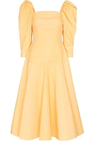 REJINA PYO Celeste puff-sleeve midi dress