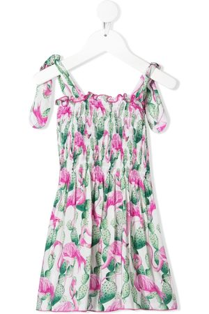 MC2 SAINT BARTH Flamingo-print dress