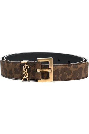 Saint Laurent Animal-print monogram belt