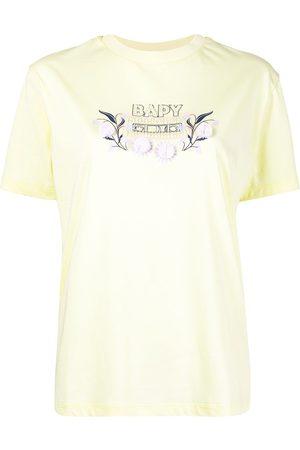 BAPY BY *A BATHING APE® Bead-embellished logo appliqué T-shirt