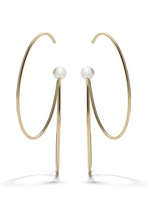 Tasaki 18kt yellow Nacreous Akoya pearl earrings