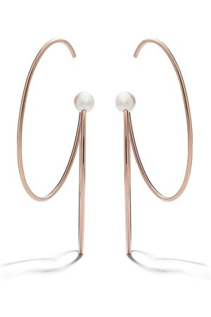 TASAKI 18kt rose and yellow gold Nacreous pearl earrings