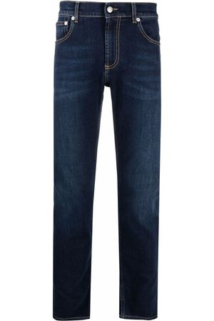 Alexander McQueen Logo-embroidered skinny jeans