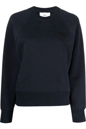 Ami Embroidered-logo long-sleeve sweatshirt
