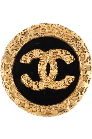 CHANEL 1993 CC embossed brooch