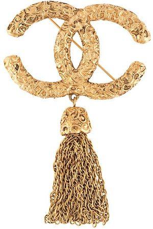 CHANEL CC tassel brooch