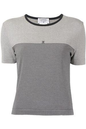 CHANEL 1997 CC striped T-shirt
