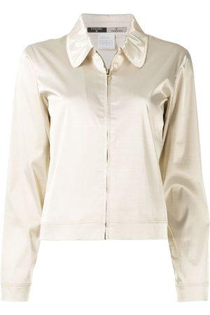 CHANEL 1999 satin-finish zip-up jacket