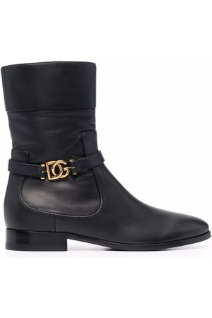 Dolce & Gabbana DG buckle ankle boots