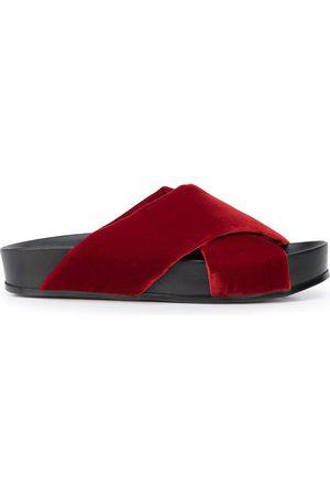 Madison.Maison Criss-cross strap velvet sandals