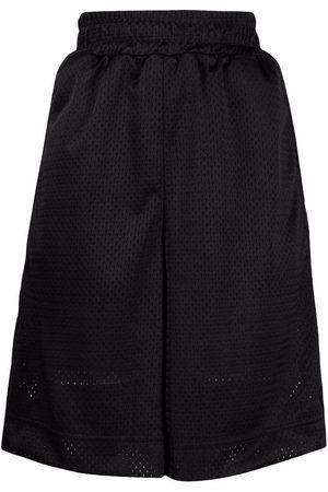 Fendi High-waisted knee-length shorts