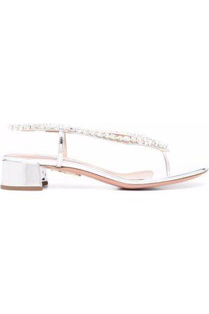 Aquazzura Divina crystal-embellished sandals