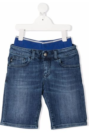 Emporio Armani Layered-look denim shorts