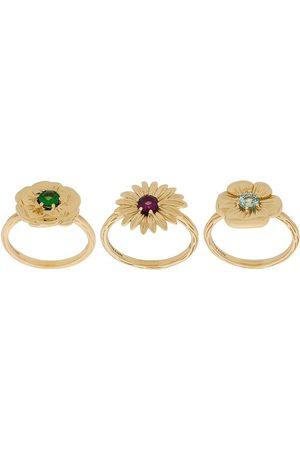 Aurélie Bidermann 18kt yellow gold Bouquet set of rings