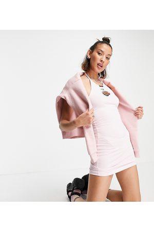 Santa Cruz Bodycon halter neck dress with cherry print in