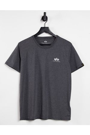 Alpha Industries Small logo t-shirt regular fit in charcoal marl