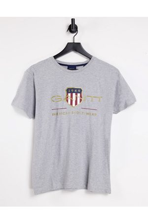 GANT Archive shield embroidered logo t-shirt in marl