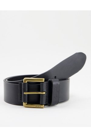 Polo Ralph Lauren Men Belts - Leather belt in with logo and gold buckle