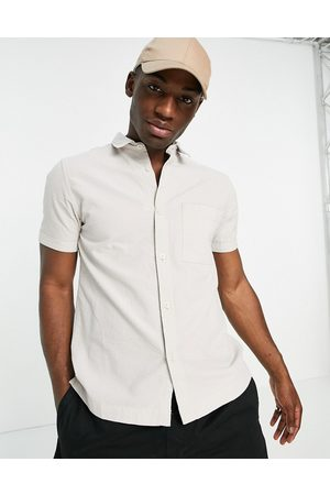 River Island Short sleeve shirt in stone-Neutral