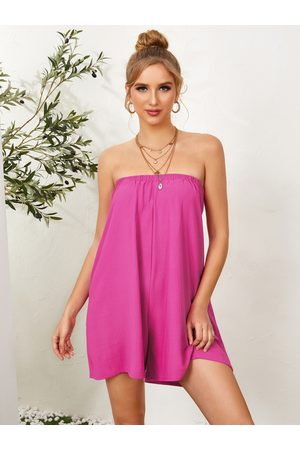 YOINS Tube top Tie-up design Sleeveless Playsuits