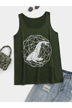 YOINS Whale Pattern Round Neck Sleeveless Cami