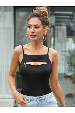 YOINS Casual Zip Design Sleeveless Cami