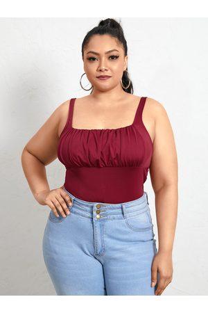 YOINS Plus Size Square Neck Backless Design Sleeveless Cami