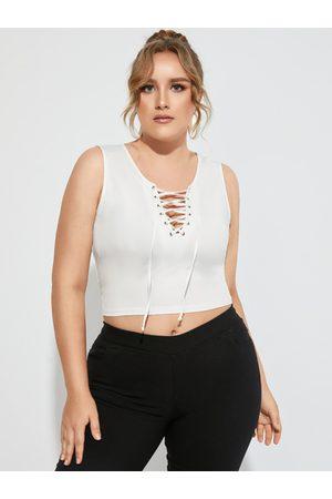 YOINS BASICS Plus Size Lace-up Design Sleeveless Tank Top