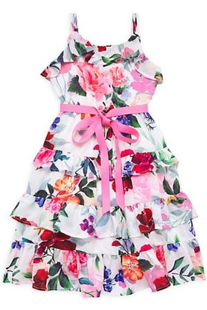 Marchesa Notte Girls Printed Dresses - Little Girl's Belinda Ruffle Floral Dress