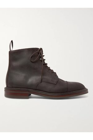 KINGSMAN Men Boots - George Cleverley Taron Cap-Toe Roughout Leather Boots