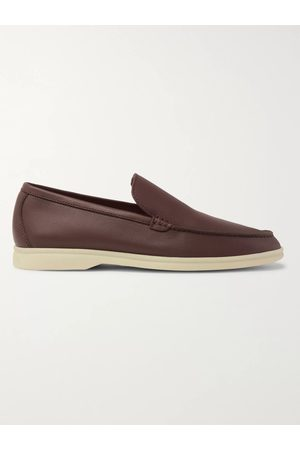 Loro Piana Men Loafers - Summer Walk Leather Loafers