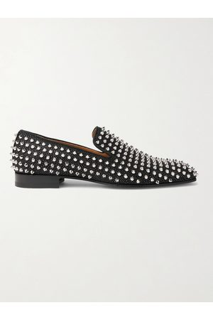 Christian Louboutin Dandelion Spiked Suede Loafers