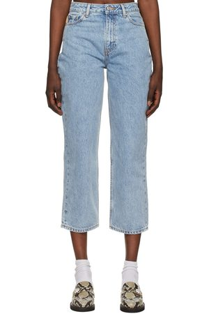 GANNI Denim Classic High-Waisted Cropped Jeans