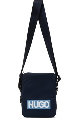 Hugo Navy Nylon Reporter Bag