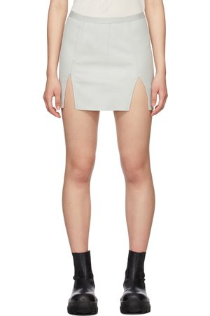 Rick Owens Off-White Leather Sacri Skirt