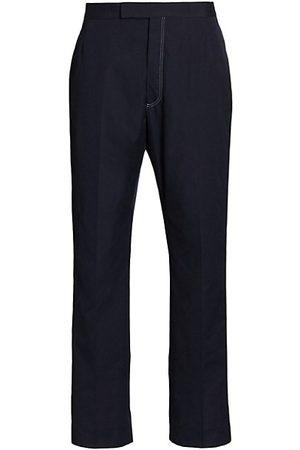Thom Browne Men Stretch Pants - Classic Backstrap Typewriter Cloth Trouers