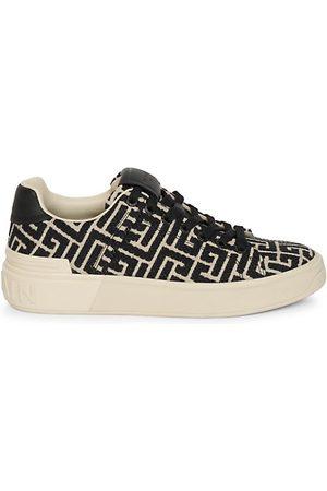 Balmain B-Court Monogram Jacquard Sneakers