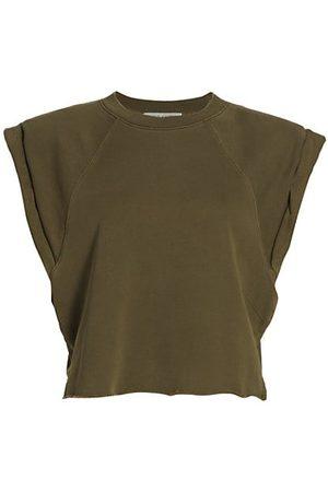 Frame Women Sweatshirts - Cap-Sleeve Organic Cotton Sweatshirt