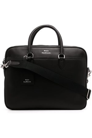 Polo Ralph Lauren Logo-print leather briefcase