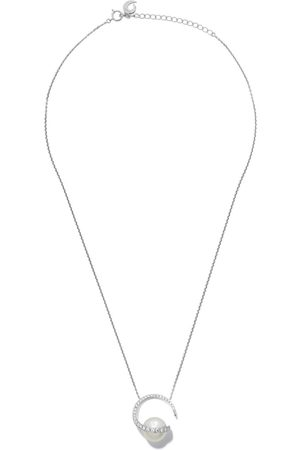 Tasaki 18kt white gold Aurora diamond and South Sea pearl pendant