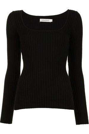 Anna Quan U-neck knitted top