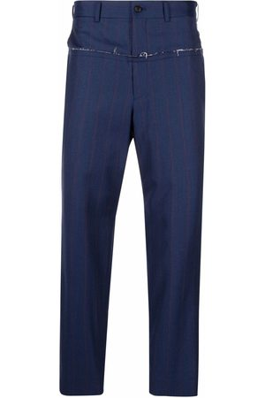 Comme des Garçons Frayed-trim tailored trousers
