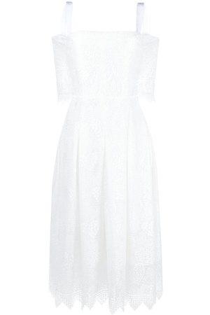 TALBOT RUNHOF Off-shoulder lace-panel dress
