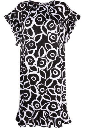 TALBOT RUNHOF Dominique floral-print silk dress